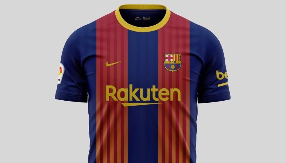 Quarto uniforme do Barcelona terá quatro cores misturadas — Foto: Reprodução/Mundo Deportivo