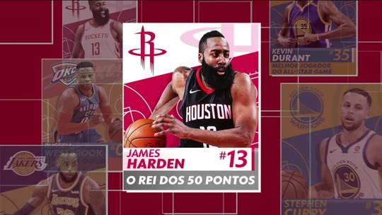 James Harden soma 8 jogos com mais de 50 pontos e é o primeiro a ser o cara da semana pela 2ª vez