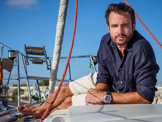 Max Fercondini veleja solitário pelo mar europeu (Foto: Arquivo pessoal)