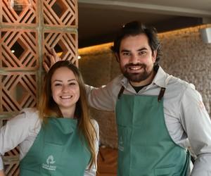 Rodrigo Aguiar e Giovanna Perrone, chefs da Casa Rios