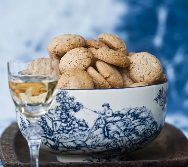 Amaretti, doce tipicamente italiano (Foto: Ricardo Corrêa/Editora Globo)