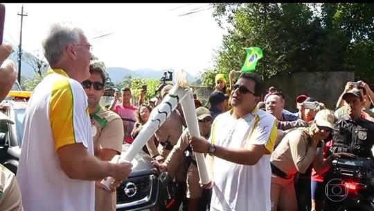 Tocha olímpica segue para Cachoeiras de Macacu percorrendo a região serrana do Rio