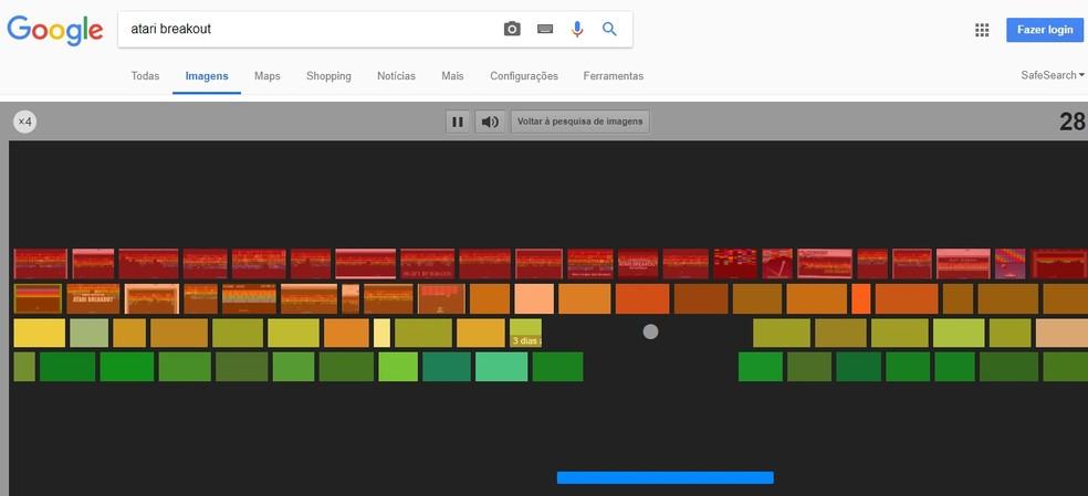 Google Imagens esconde jogo Breakout, famoso no Atari, para ser jogado online (Foto: Reprodução/Rodrigo Fernandes)