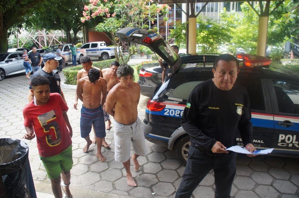 -  Presos foram encaminhados para Delegacia Geral  Foto: Reprodução/Polícia Civil