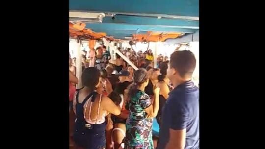 Passageiro denuncia superlotação de embarcação no Porto Jarumã, em Belém