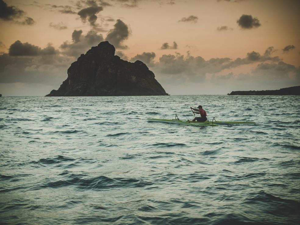 O atleta também é vice-campeão brasileiro de canoagem  — Foto: Fábio Borges/Hydrosphera