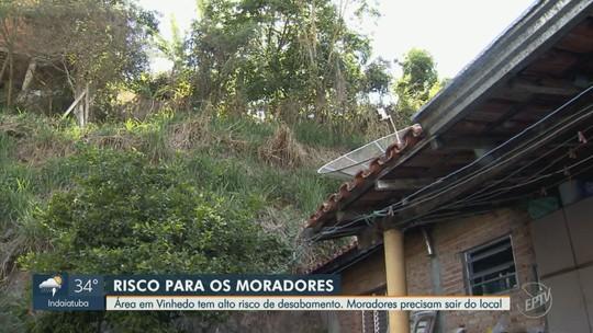 Famílias são obrigadas a deixar casas em Vinhedo após alerta de risco de desabamento