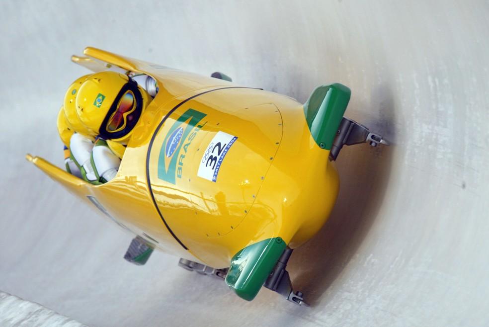 Edson Bindilatti na Olimpíada de Inverno de Salt Lake City, em 2002 (Foto: Getty Images)