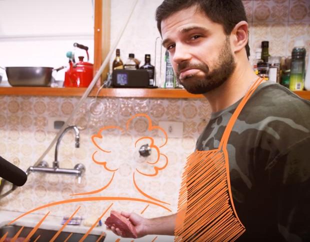 Duda Nagle ensina estratégia para se virar na cozinha (Foto: Youtube/ Reprodução)