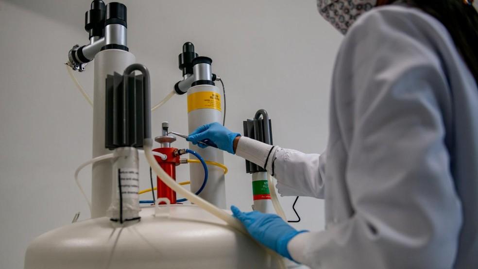Laboratório de Ressonância Magnética Nuclear (LabRMN), do Departamento de Química da Universidade Federal do Paraná (UFPR) — Foto: Marcos Solivan/UFPR