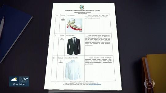 Alerj faz cotação para cerimônia de posse do governador; lista inclui camisas de algodão egípcio e gravatas de seda