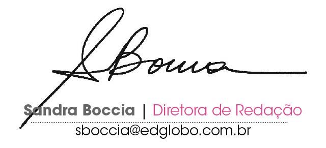 assinatura Sandra Boccia (Foto: D.)