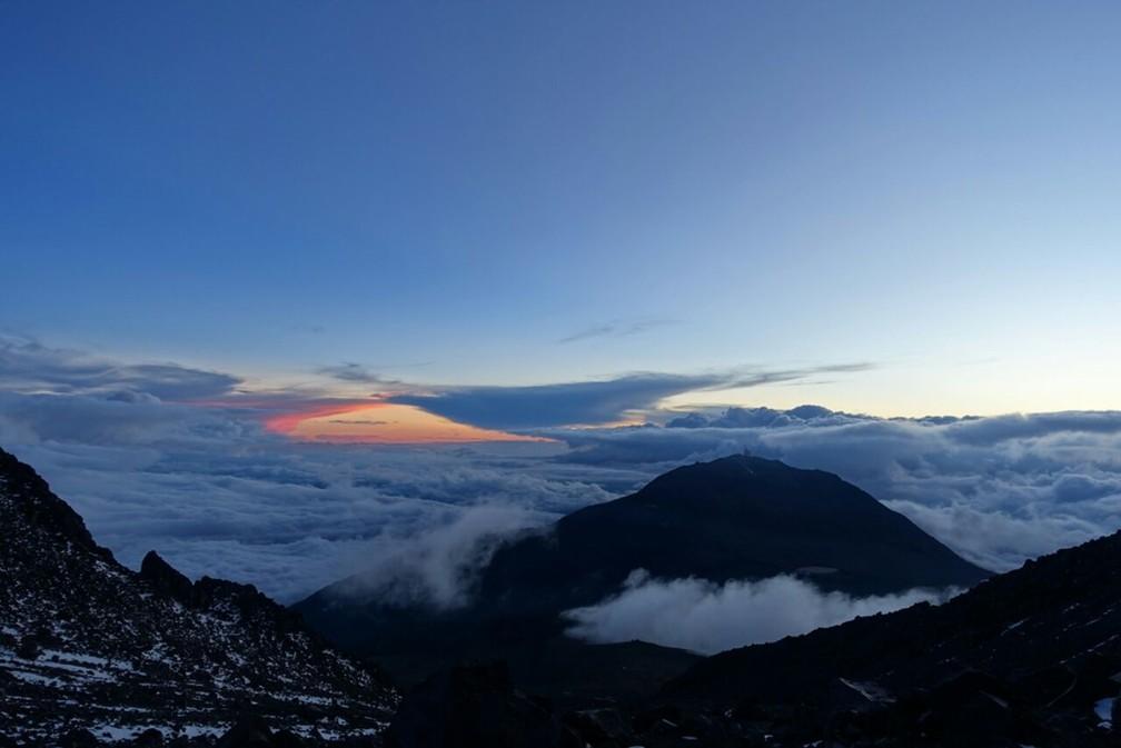 Paisagens do topo de montanha no México chamaram a atenção de alpinista. (Foto: Arquivo Pessoal)