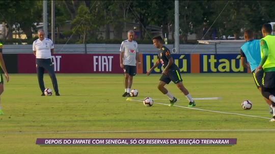 Reservas da Seleção Brasileira treinam em Singapura após empate com Senegal