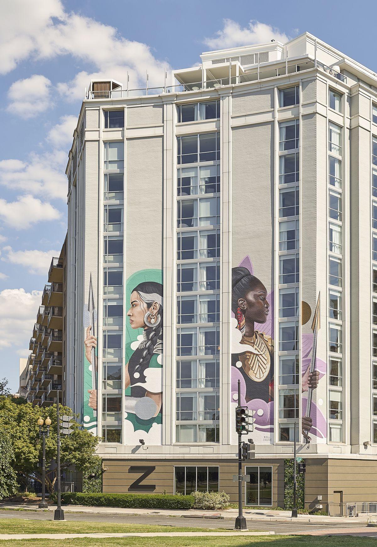 Hotel em Washington celebra conquistas femininas e igualdade de gênero por meio da arte (Foto: Divulgação)