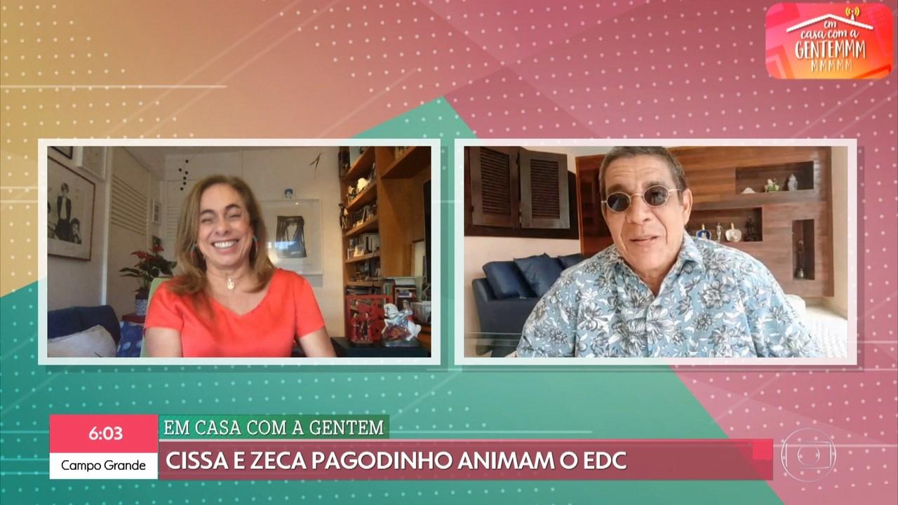 Zeca Pagodinho está 'Em Casa com a Gentem'