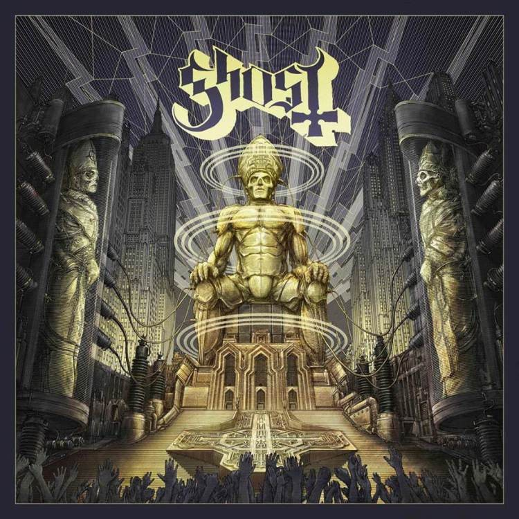 "Capa do próximo disco do grupo sueco Ghost, ""Ceremony and devotion"""
