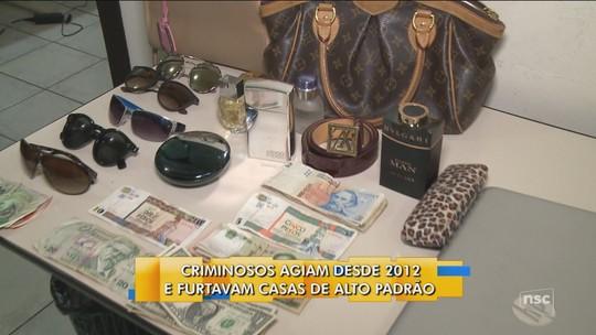 Suspeito de furtos milionários em casas de luxo no Vale do Itajaí é preso