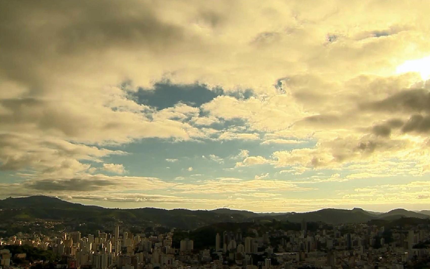Semana será de céu nublado e chuva nas cidades da Zona da Mata e do Campo das Vertentes
