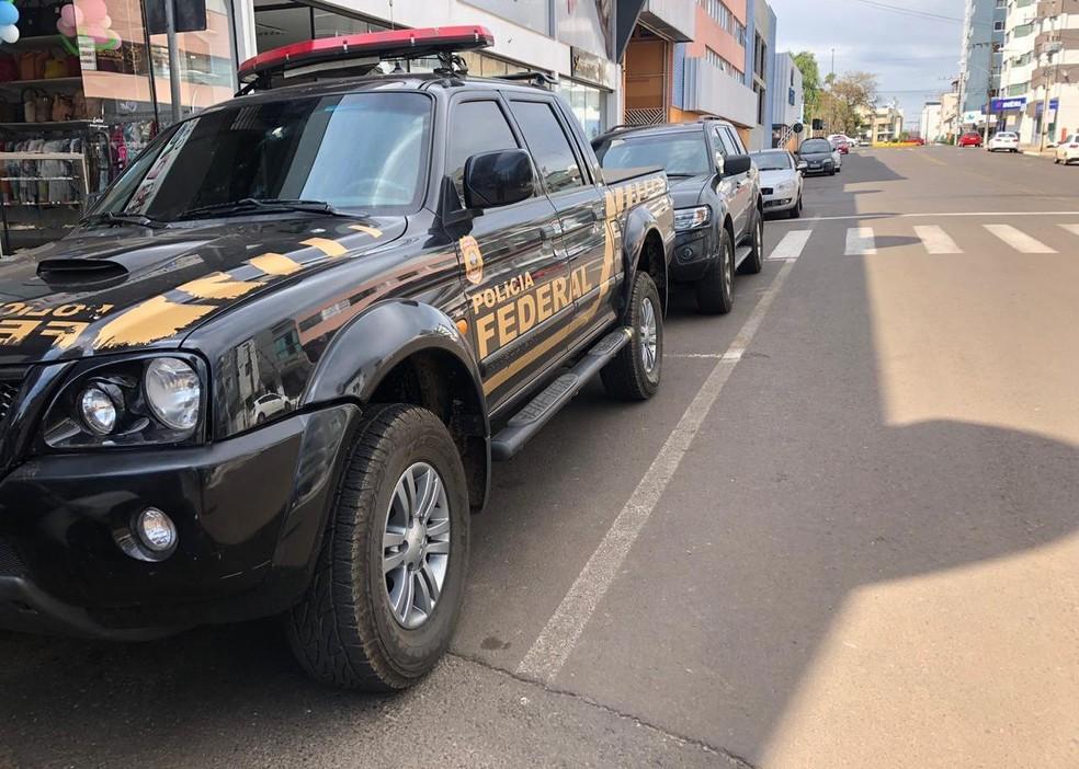 Operação cumpre mandados de busca e apreensão em Xanxerê — Foto: Fernanda Moro/ NSC TV