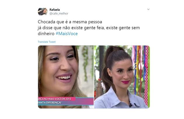 Comentários de internautas sobre Bianca Andrade (Foto: Reprodução/Twitter)