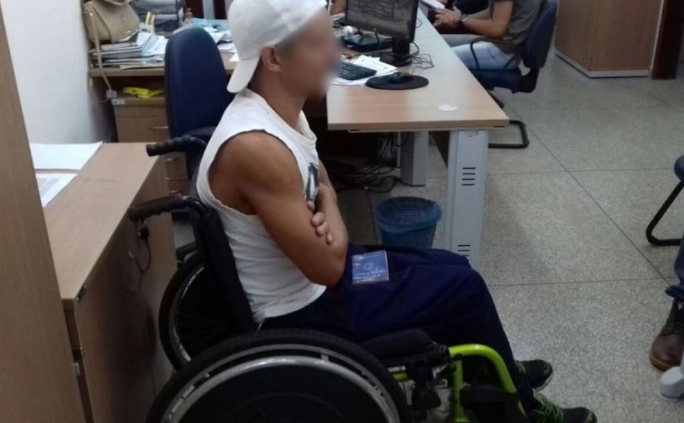 Cadeirante foi preso durante ação em todo Brasil (Foto: WhatsApp/Reprodução)