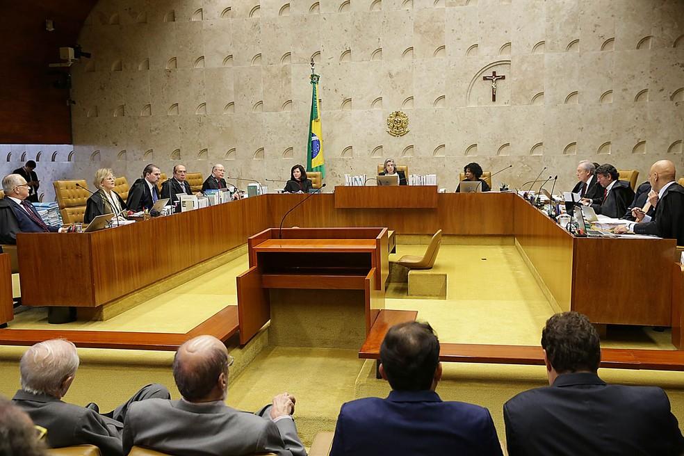 Sessão do Supremo Tribunal Federal (STF), no último dia 22, julgou habeas corpus com que a defesa do ex-presidente Lula tenta impedir prisão do ex-presidente (Foto: Antonio Cruz/Agência Brasil)