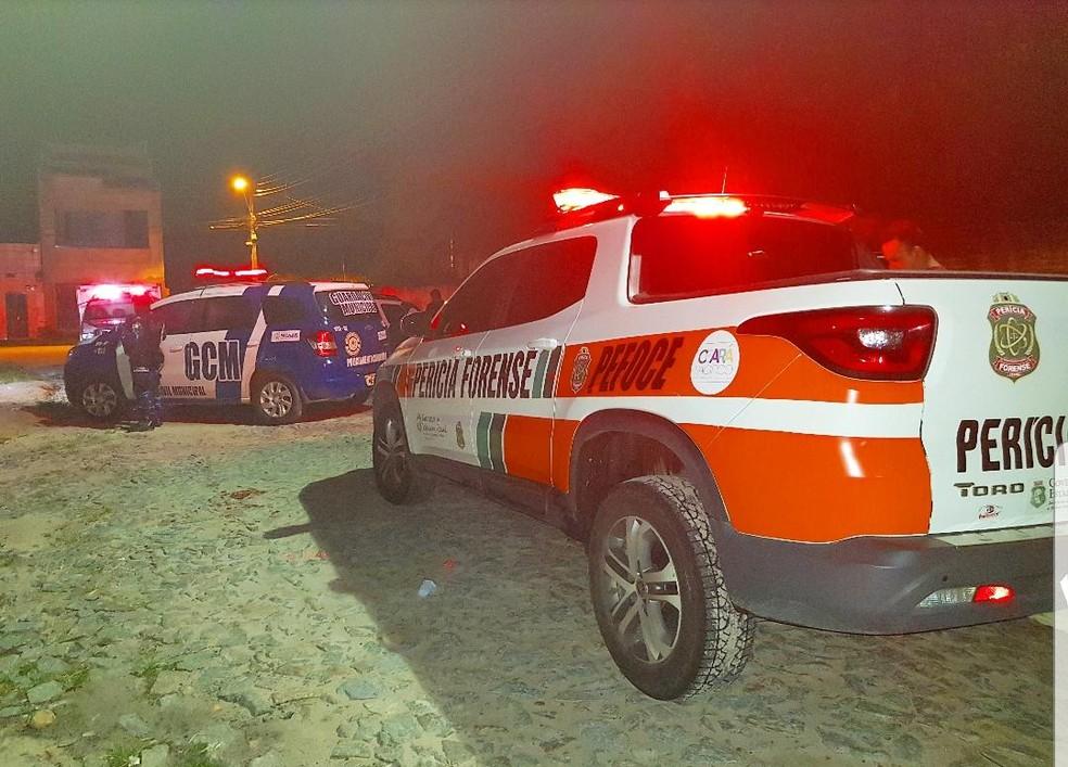 A polícia afirmou que um dos mortos era usuário de drogas. — Foto: Rafaela Duarte/TV Diário