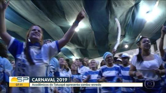 Acadêmicos do Tatuapé: veja letra do samba-enredo do carnaval 2019 em SP
