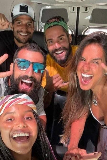 Participantes da tribo Calango de 'No limite' (Foto: Reprodução)
