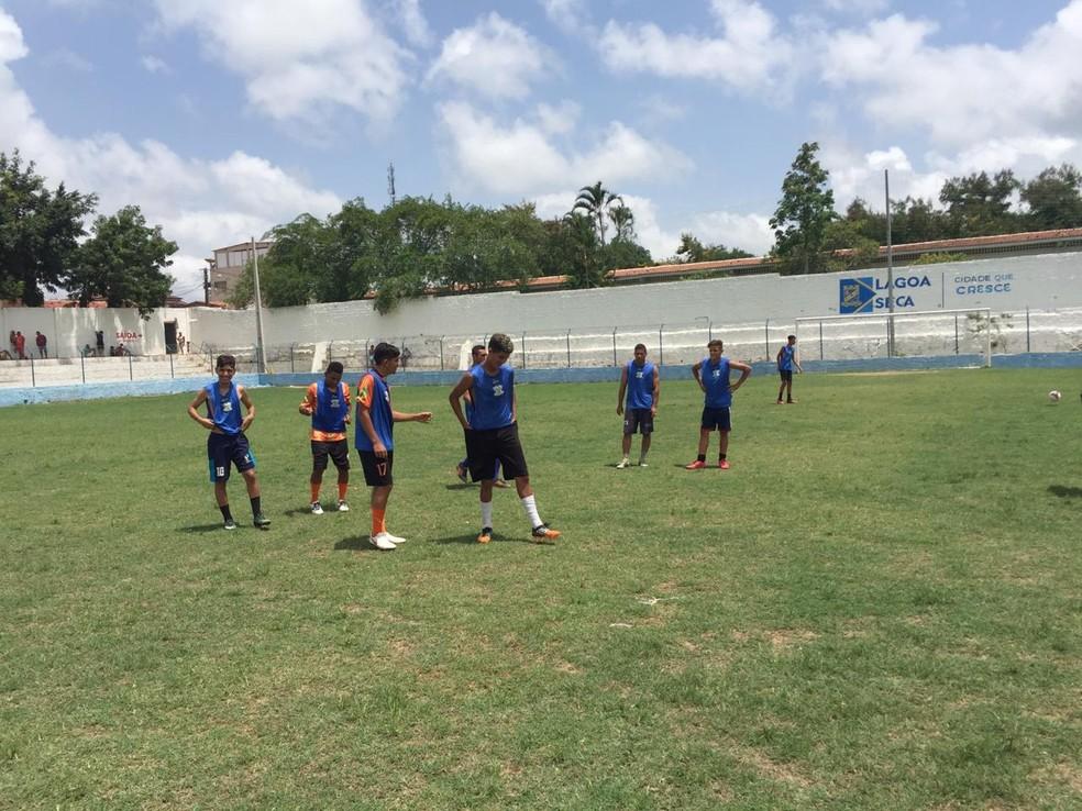 Peneira foi realizada no Estádio Titão, em Lagoa Seca — Foto: Divulgação / Sport-PB