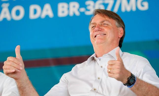 Bolsonaro na inauguração da BR-367, em Minas