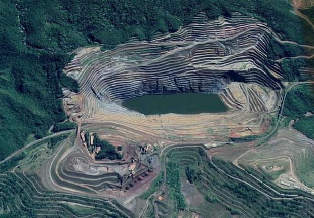 Barragem Sul Superior, na Mina de Gongo Soco, em Barão de Cocais (Foto: google maps/agência brasil)