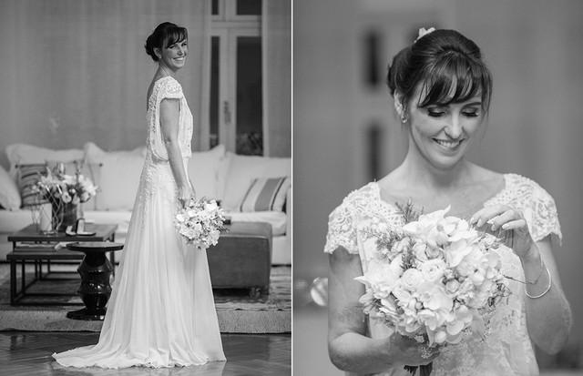 Glenda Kozlowski se casou em setembro de 2018, a bordo de um vestido assinado por Emanuelle Junqueira (Foto: V Rebel / Divulgação)