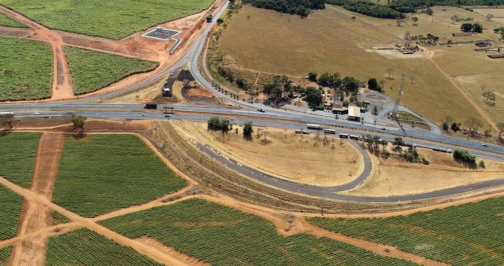 Trecho da BR-365 já sob concessão, foto de arquivo — Foto: Ecovias do Cerrado/Divulgação