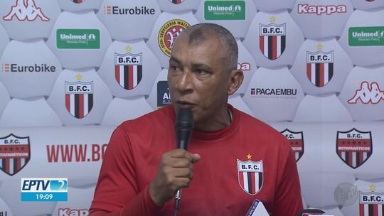 Hemerson Maria promove mudança de hábito nos treinos do Botafogo-SP
