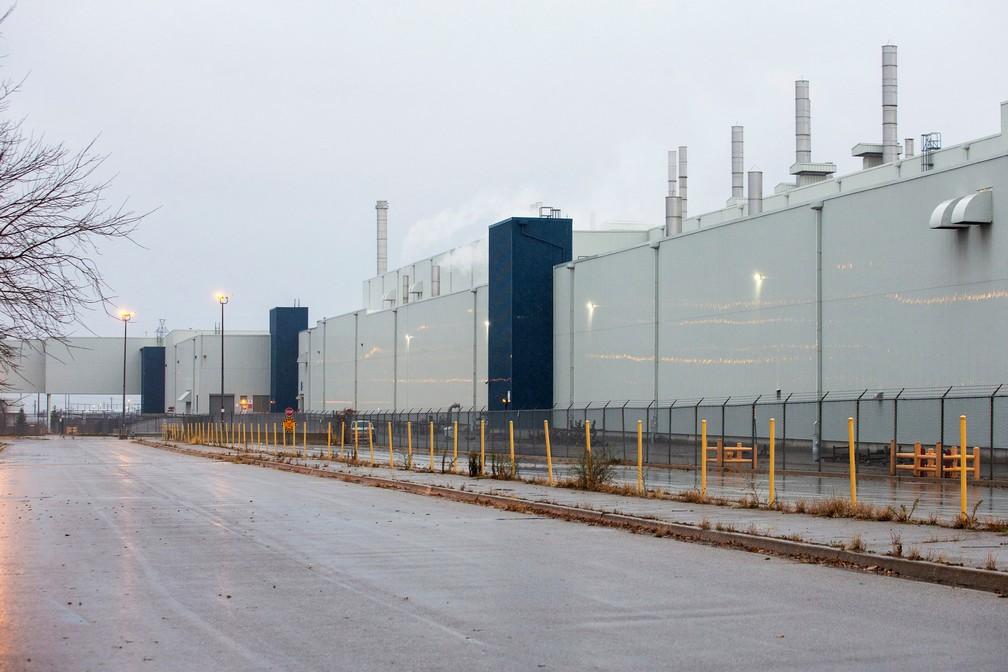 Fábrica da GM em Oshawa, Ontario, no Canadá — Foto: Carlos Osorio/Reuters