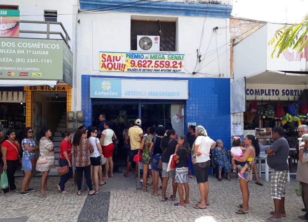 No Ceará, a aposta vencedora foi feita Loteria Maranguape, no mercado do município.  (Foto: Manoel Ulisses/Arquivo Pessoal)
