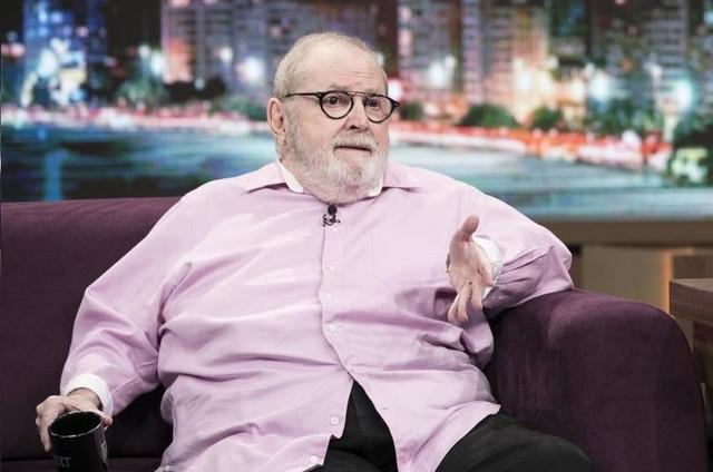 Jô Soares é entrevistado no programa de Fábio Porchat (Foto: Edu Moraes/Record TV)