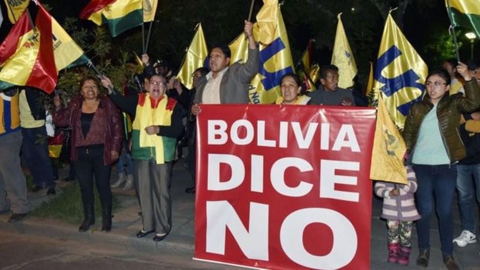 Adversários de Evo Morales afirmam que o presidente quer se perpetuar no poder — Foto: Getty Images