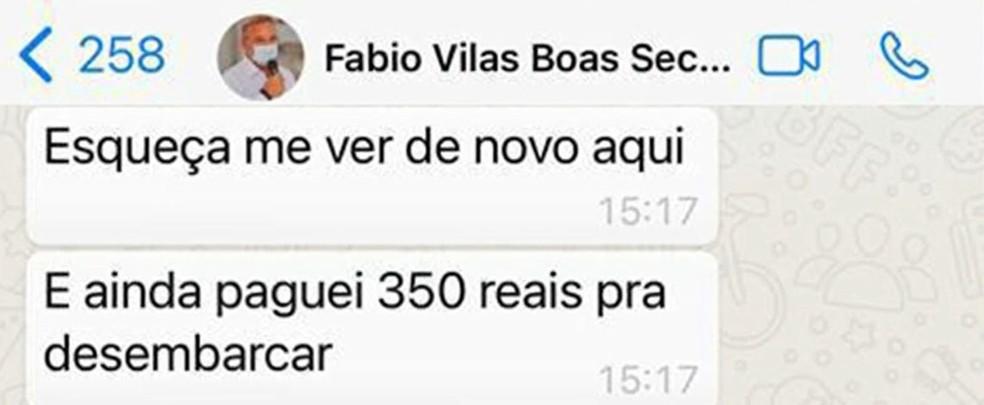 Secretário de saúde da BA xinga chef de cozinha de 'vagabunda' após ter reserva cancelada por tempo instável em Salvador — Foto: Reprodução/TV Bahia
