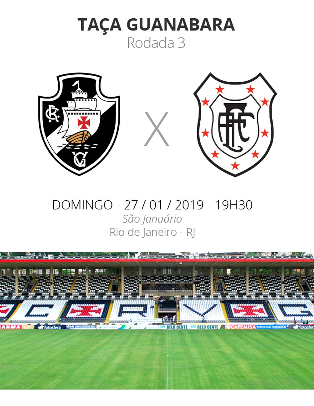 29f92c1e7a Vasco x Americano  everything you need to know about the duel of the third  round of the Guanabara Cup Carioca Championship
