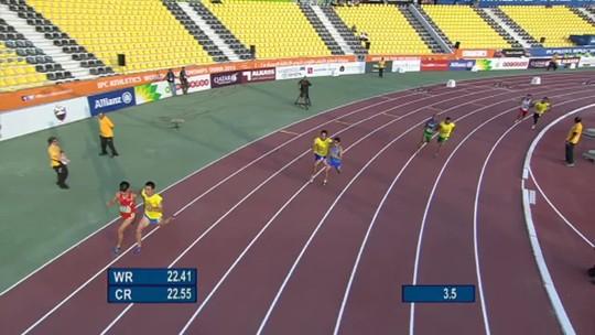 Sem Terezinha, paraense supera dor em dobradinha nos 100m do Mundial