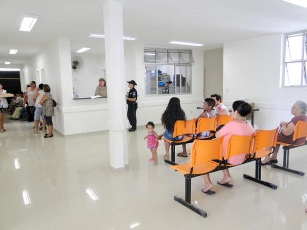 Unidade de saúde em Guarujá — Foto: Meilin Neves/Prefeitura de Guarujá