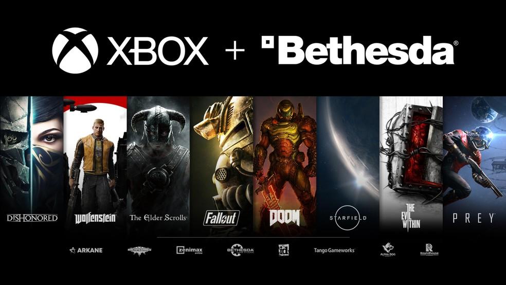 Catálogo do Xbox fica ainda mais chamativo com aquisição da Bethesda e suas franquias — Foto: Divulgação/Microsoft