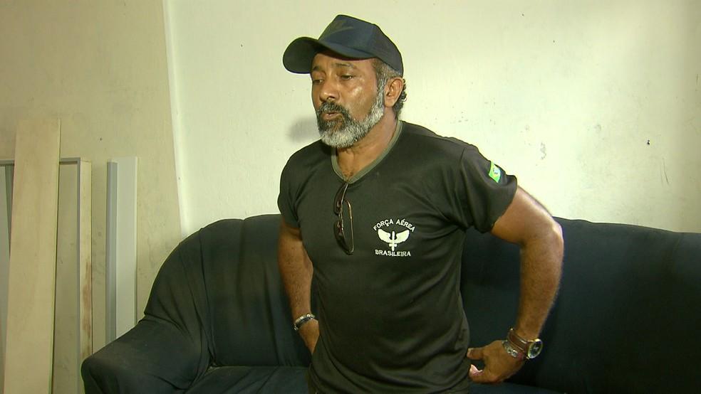 Luiz Inácio da Silva disse que caiu da cama com a explosão — Foto: Reprodução/TV Globo