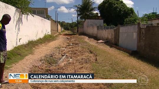 Moradores de Itamaracá reclamam de lixo acumulado e falta de calçamento em Itamaracá