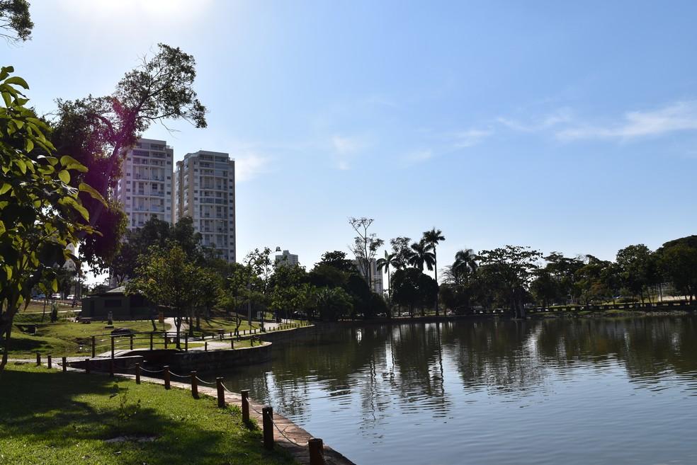 Parque Lago das Rosas no Setor Oeste em Goiânia, Goiás — Foto: Vanessa Chaves/G1