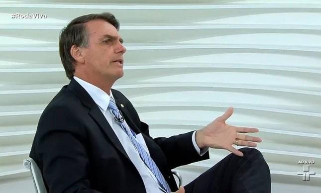 Jair Bolsonaro no programa Roda Viva