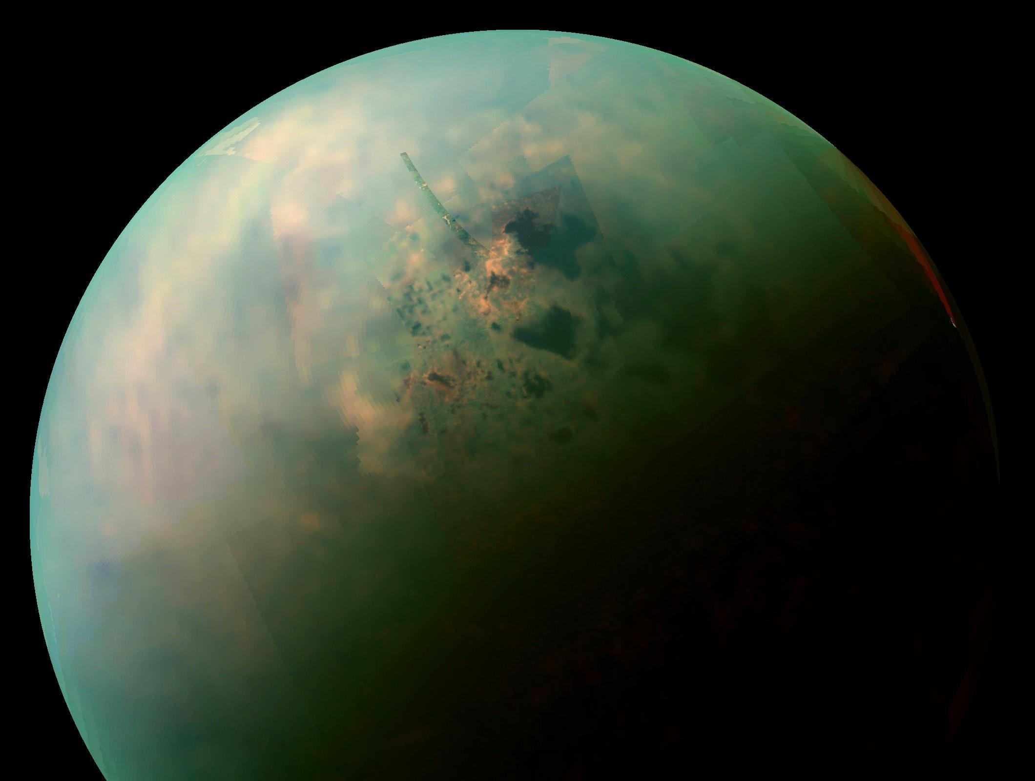 Titã, a maior lua de Saturno (Foto: NASA)